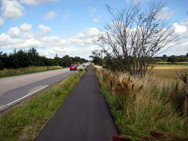 good bikelanes between aarhus and randers