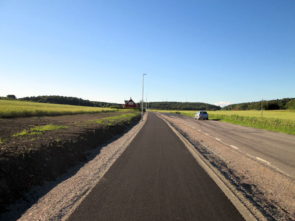 new bikelanes in kungsbacka